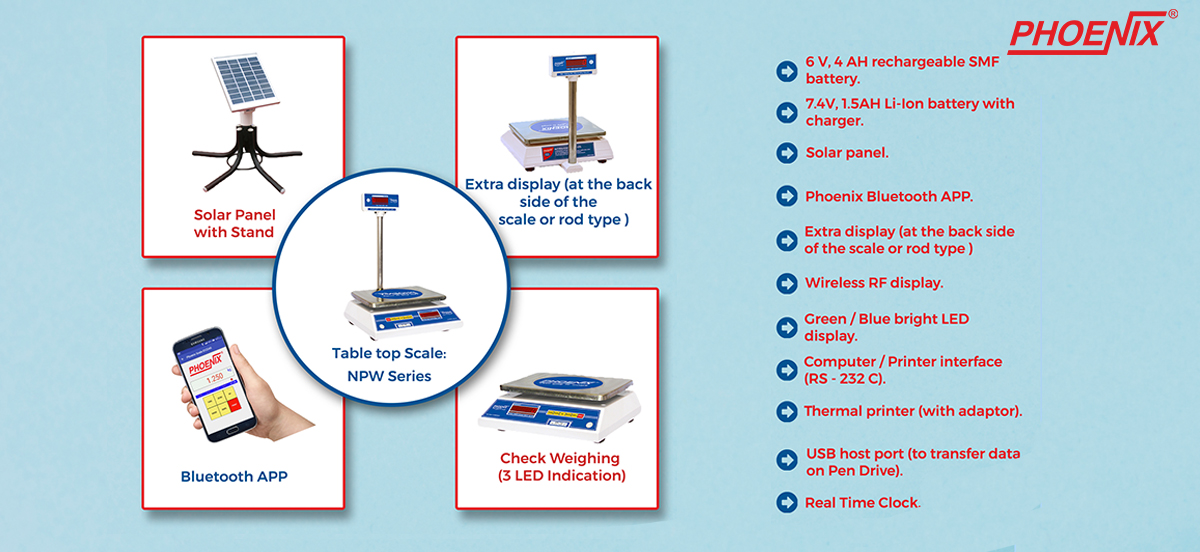 Phoenix NPW Weighing Scale : Accessories and additional Features